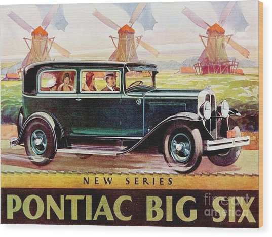Pontiac Big Six - Poster Wood Print by Roberto Prusso