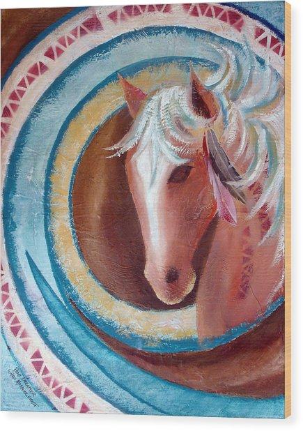 Pony Dreamer Wood Print by Chris Morningforest