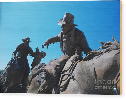 Pony Express Wood Print