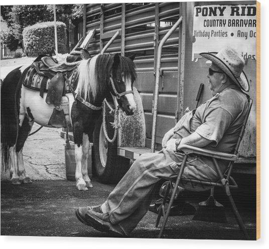 Pony Ride Wood Print