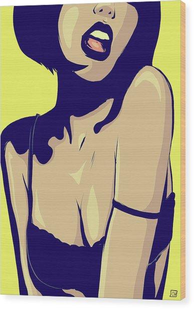 Pop 001 Wood Print