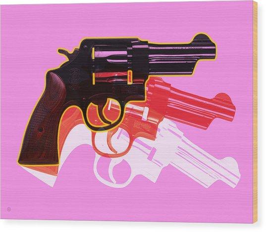 Pop Handgun Wood Print