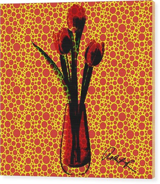 Pop Tulip Bubbles Wood Print