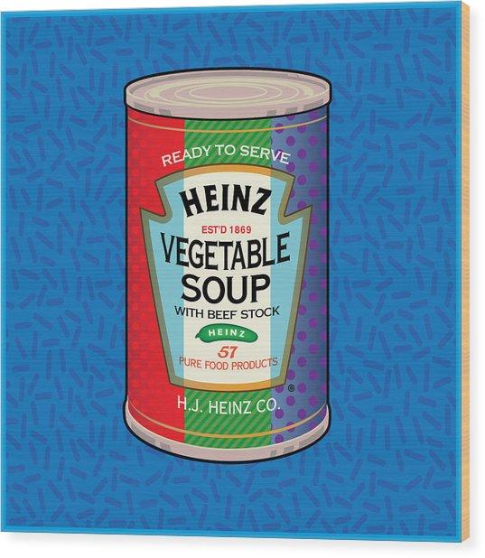 Pop Vegetable Soup Wood Print
