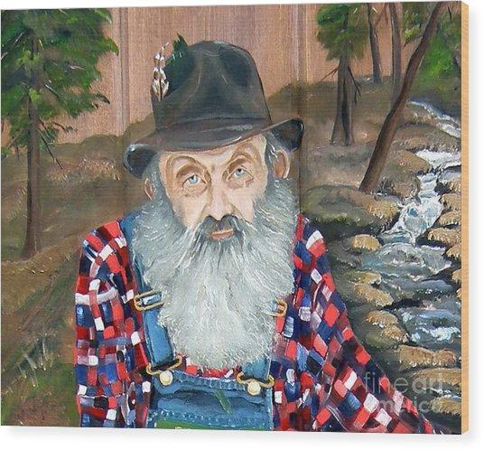 Popcorn Sutton - Moonshine Legend - Landscape View Wood Print