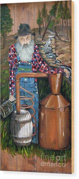 Popcorn Sutton - Moonshiner - Redneck Wood Print