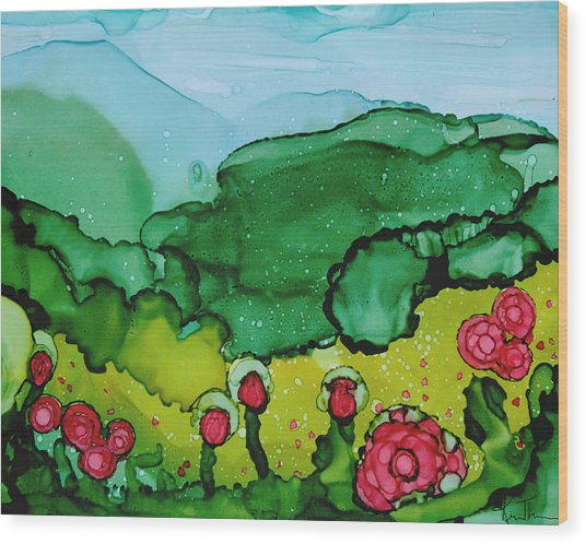 Poppin Poppies Wood Print by Kim Thompson