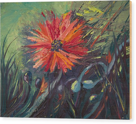 Poppin' Poppies Wood Print