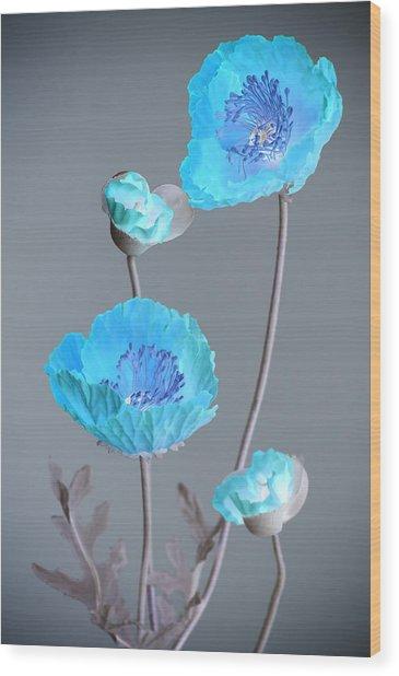 Poppy Family Wood Print