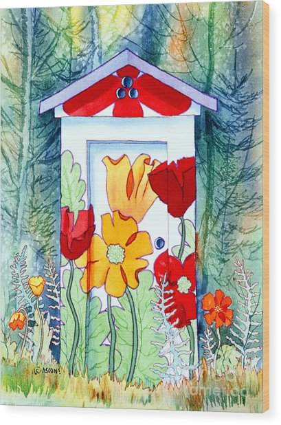 Poppy Potty Wood Print