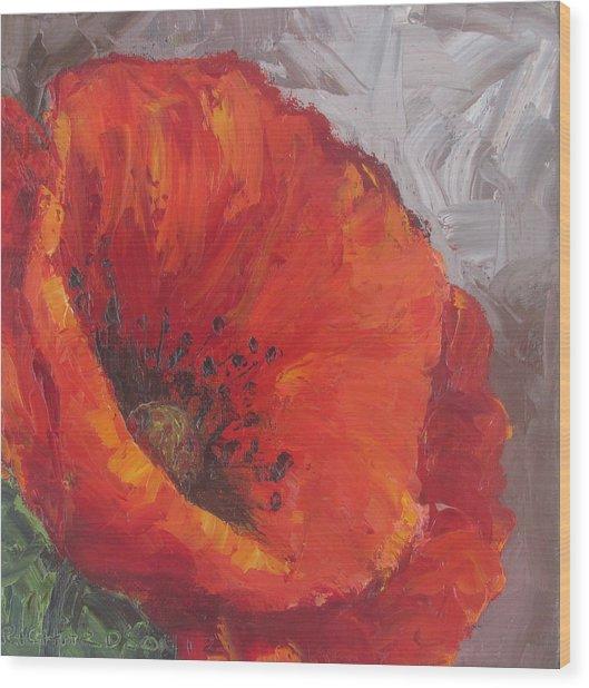 Poppy1 Wood Print by Susan Richardson