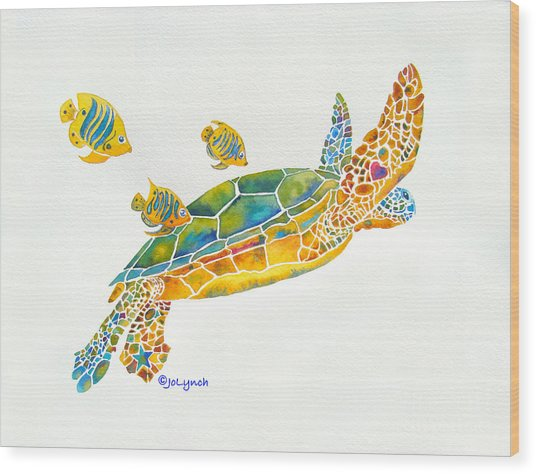 Popular Sea Turtle Wood Print