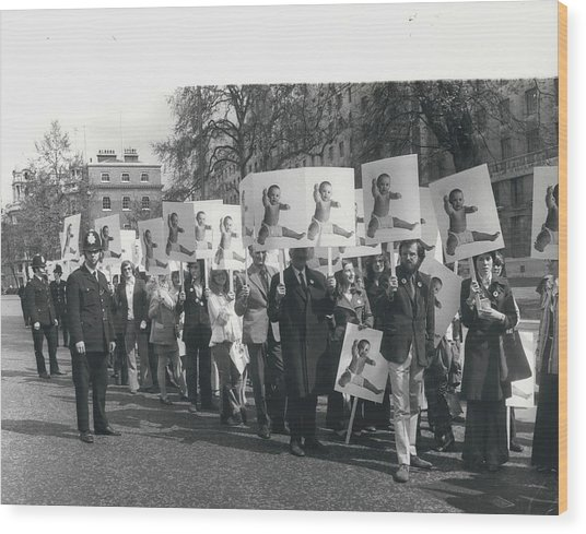 Population Day March Wood Print by Retro Images Archive