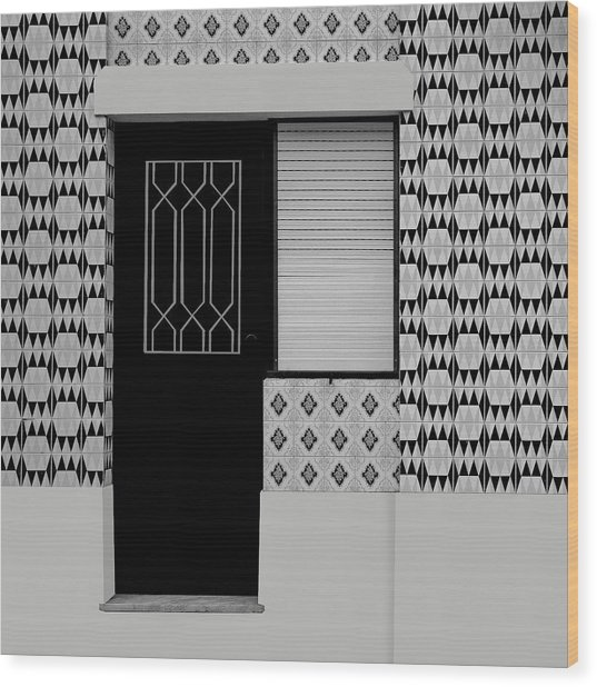 Porches With Tiles Wood Print