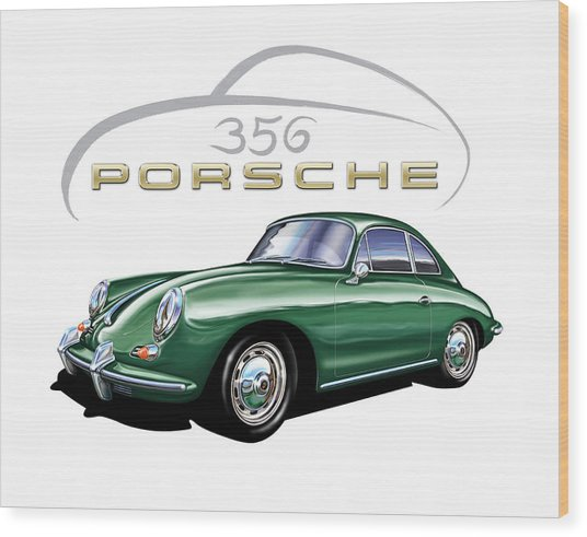 Porsche 356 Coupe Green Painting By David Kyte