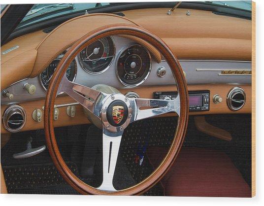 Porsche 356b Super 90 Interior Wood Print