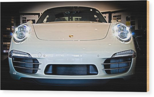 Porsche 911 50th Front With Led's Wood Print
