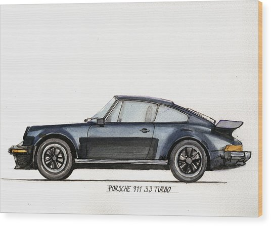 Porsche 911 930 Turbo Wood Print