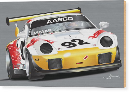 Porsche 911 Turbo Custom Wood Print