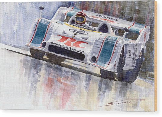 Porsche 917 10 Rc Cola Team Follmer Wood Print