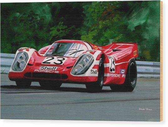 Porsche 917  Le Man Winner Wood Print