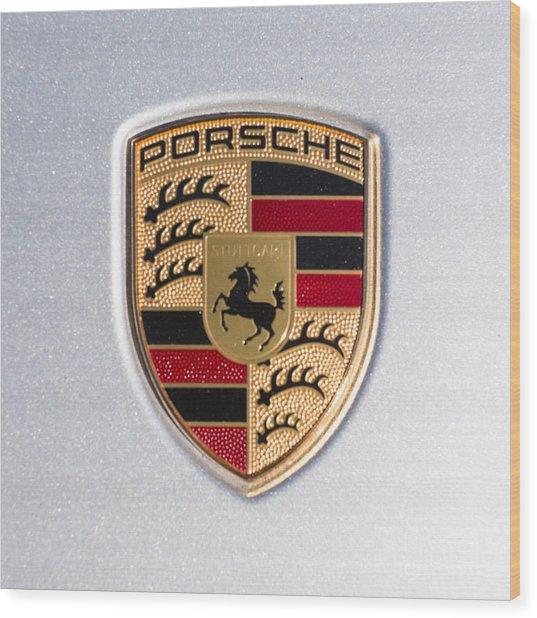 Porsche Emblem 911 Wood Print