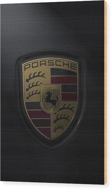 Porsche Logo Wood Print