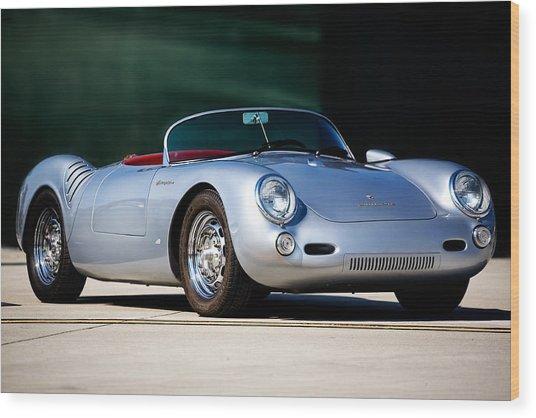 Porsche Spyder 550 Wood Print by Peter Tellone