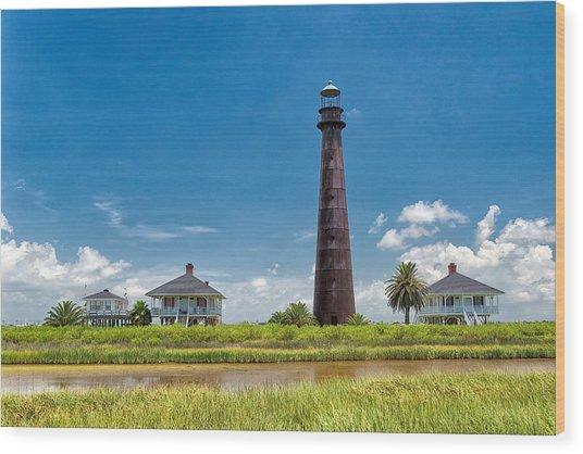 Port Bolivar Lighthouse Wood Print