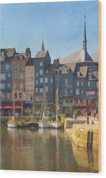 Port D'honfleur Wood Print