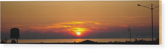 Port Elgin Sunset Wood Print by BandC  Photography