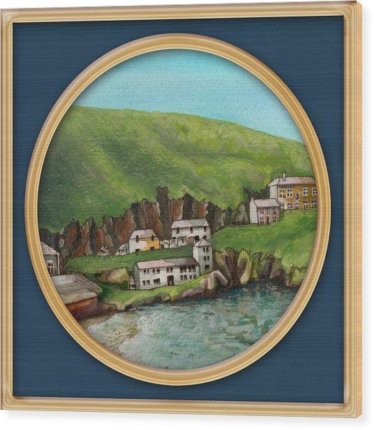 Port Isaac Wood Print
