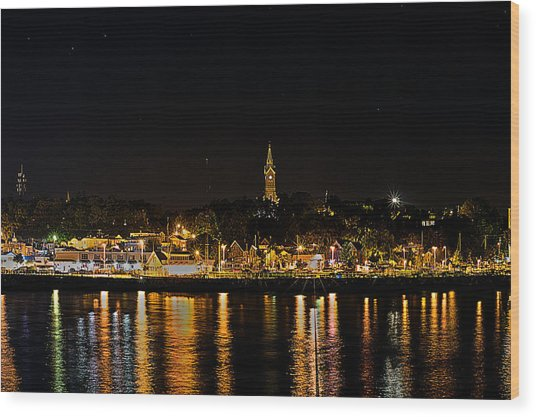 Port Lights Wood Print