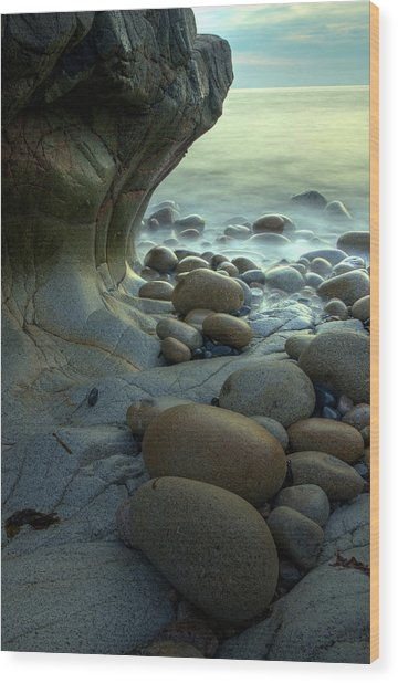 Port Nanven Wood Print by Pete Hemington