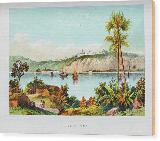 Port Of Luanda Wood Print