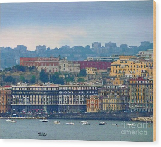 Port Of Napoli Wood Print
