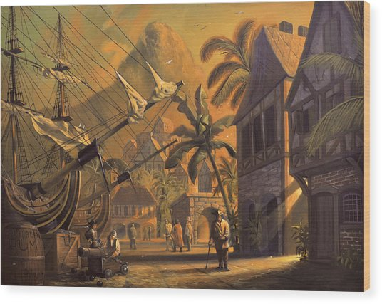 Port Royal Wood Print by A Prints