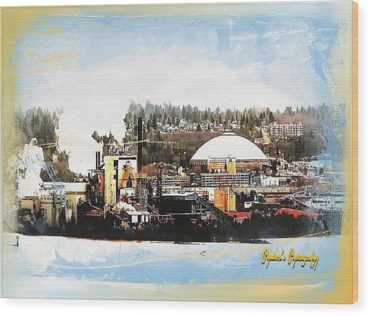 Port Tacoma Dome Wood Print