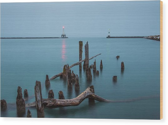 Port Washington Harbor Wood Print