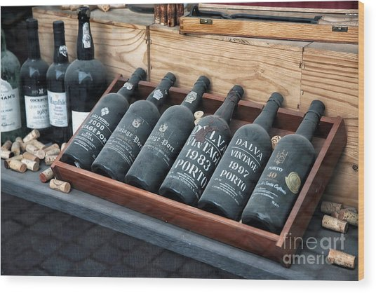 Port Wine Wood Print by John Rizzuto