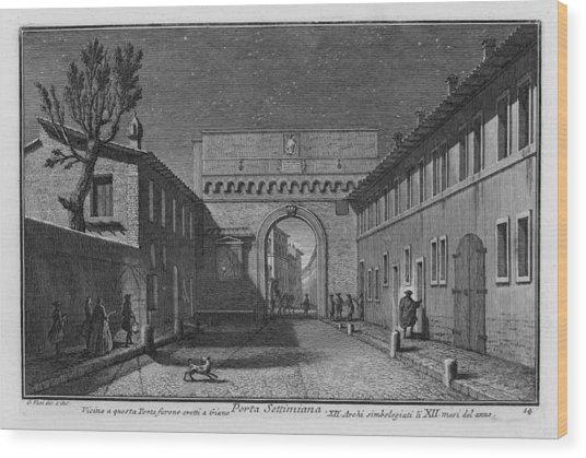 Porta Settimiana Wood Print