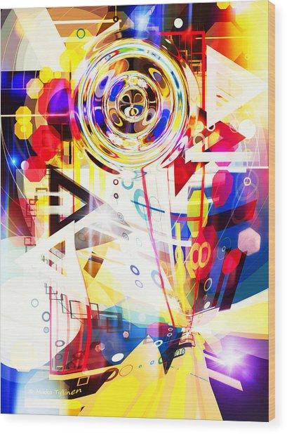 Portal Into Imaginary  Wood Print