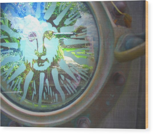 Porthole To The Secret Garden Wood Print