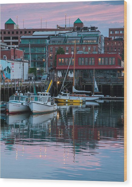 Portland Harbor Wood Print