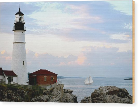Portland Head Light Wood Print