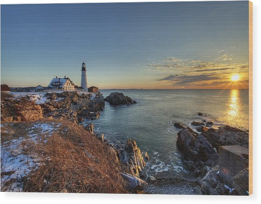 Wood Print featuring the photograph Portland Head Light by Chris Babcock