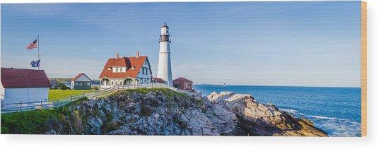 Portland Head Light House Cape Elizabeth Maine Wood Print