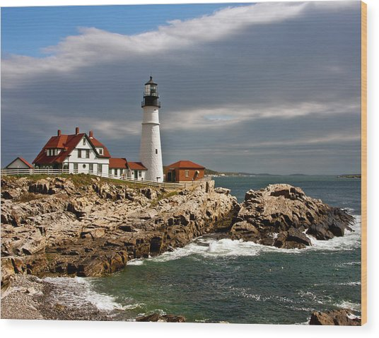 Portland Headlight Wood Print