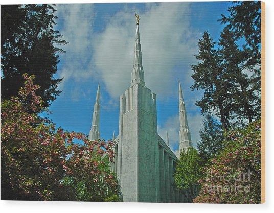 Portland Oregon Lds Temple Wood Print