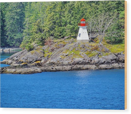 Portlock Point Lighthouse In British Columbia Wood Print